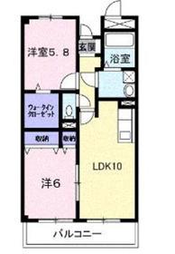 つきみ野駅 徒歩16分2階Fの間取り画像