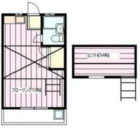 マリーンハイツ2階Fの間取り画像