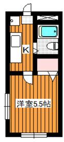 阿部ビル3階Fの間取り画像