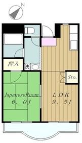 グリーンプラザ御園Ⅱ2階Fの間取り画像