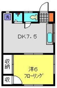 静翠荘2階Fの間取り画像