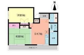 ソオワ新川崎ハイツ地下4階Fの間取り画像