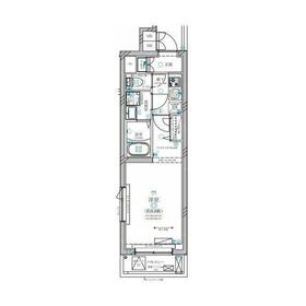 ディアレイシャス溝の口(ディアレイシャスミゾノクチ)地下4階Fの間取り画像