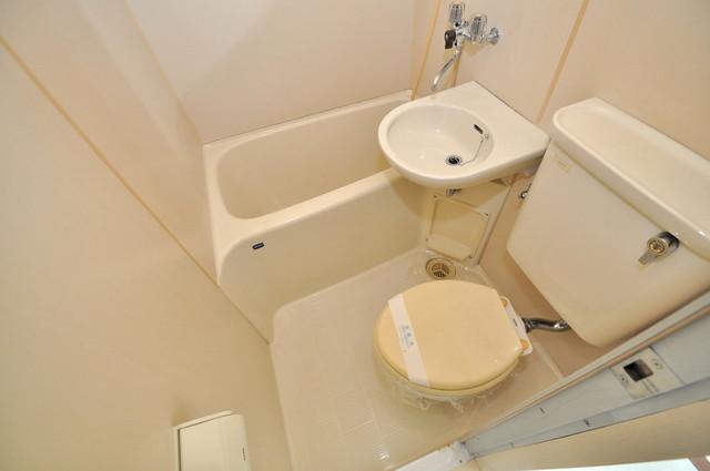 アバンティ八戸ノ里 コンパクトだけど機能性バッチリ。シンプルライフに十分のお風呂。