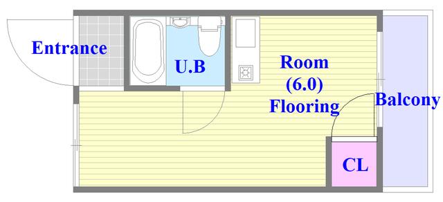 ベルハイム俊徳道 シンプルなワンルームのお部屋です。