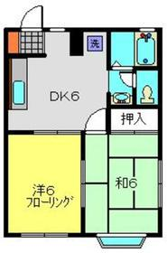 チェリッシュ菊名1階Fの間取り画像