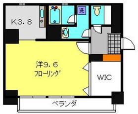 ブライトVヨコハマ9階Fの間取り画像
