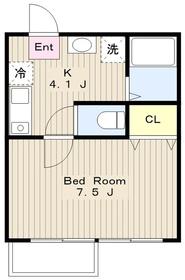 エスポワール厚木2階Fの間取り画像