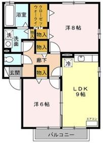大和駅 徒歩11分2階Fの間取り画像