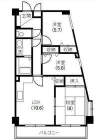 本厚木駅 徒歩12分2階Fの間取り画像