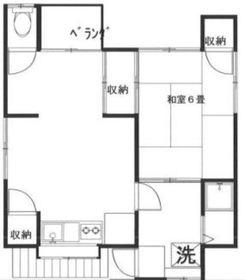 窪田アパート2階Fの間取り画像