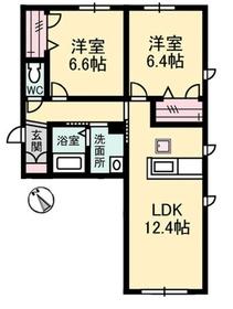 リラフォート1階Fの間取り画像