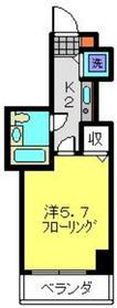 ワコーレ三ツ沢公園Ⅱ2階Fの間取り画像