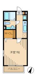 桜館1階Fの間取り画像