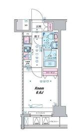 ジェノヴィア横濱関内スカイガーデンⅡ6階Fの間取り画像