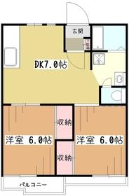 サンレイクペルテ2階Fの間取り画像