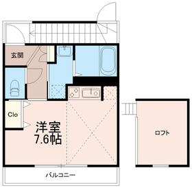 ウイングスターツー(ウイングスター2)2階Fの間取り画像