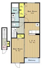 ジョイフルール2階Fの間取り画像