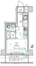 クラリッサ横浜阪東橋5階Fの間取り画像