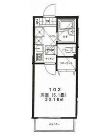 カルペディエム横浜Ⅱ1階Fの間取り画像
