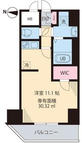 ルアナ亀戸2階Fの間取り画像