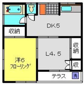 小林荘1階Fの間取り画像