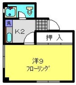 武蔵小杉駅 徒歩18分3階Fの間取り画像