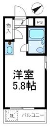コスモ西武柳沢2階Fの間取り画像