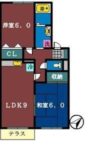 セジュール藤原1階Fの間取り画像