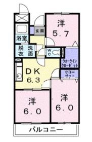 エスポワールいずみ野2階Fの間取り画像