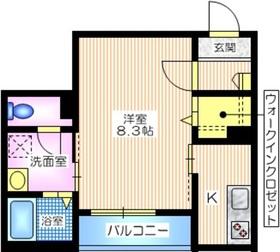 Fパーク三ツ沢2階Fの間取り画像