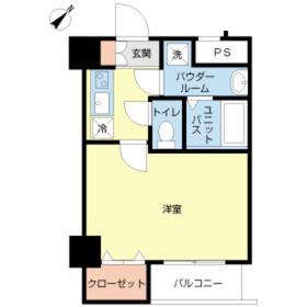 スカイコートヌーベル入谷第24階Fの間取り画像