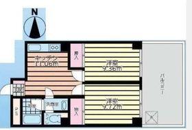 新杉田駅 徒歩4分2階Fの間取り画像