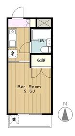 プラザ210YANOKUCHI2階Fの間取り画像