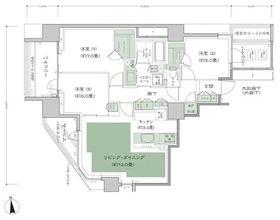 シティハウス用賀砧公園9階Fの間取り画像