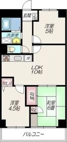 大井町ハウス6階Fの間取り画像