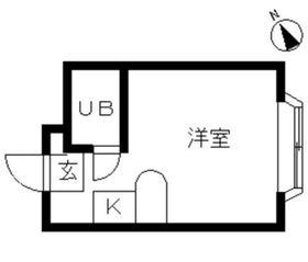 鶴ヶ峰駅 徒歩13分1階Fの間取り画像
