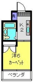 ライフモリ13号館2階Fの間取り画像