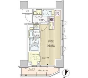 パークアクシス赤坂見附11階Fの間取り画像
