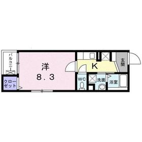 錦糸町コクーン5階Fの間取り画像