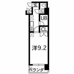 ユニテック九品寺4階Fの間取り画像