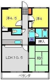 グランデール三ツ境1階Fの間取り画像
