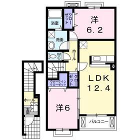 地下鉄成増駅 バス8分「越後山」徒歩7分2階Fの間取り画像