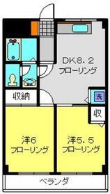 フローラKIKU E2階Fの間取り画像
