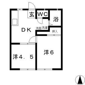 エフシリーズ安江Ⅱ1階Fの間取り画像
