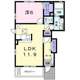 北八王子駅 徒歩12分1階Fの間取り画像