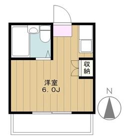 ヴィラ永山2階Fの間取り画像