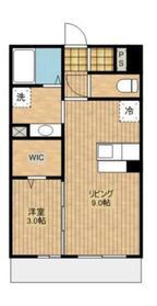 オークスアレイ矢部ウエストコート3階Fの間取り画像