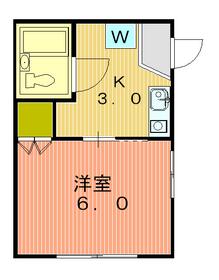 メゾンK2階Fの間取り画像