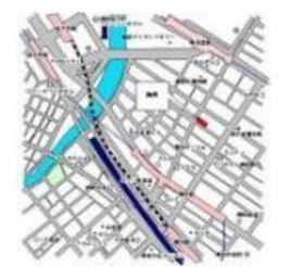 レジディア横濱馬車道案内図